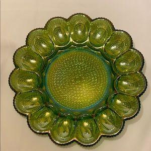 VTG Carnival Glass Egg Plate